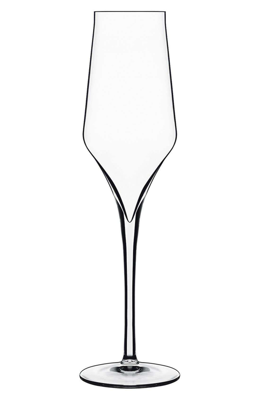 Alternate Image 1 Selected - Luigi Bormioli 'Supremo' Champagne Flutes (Set of 6)