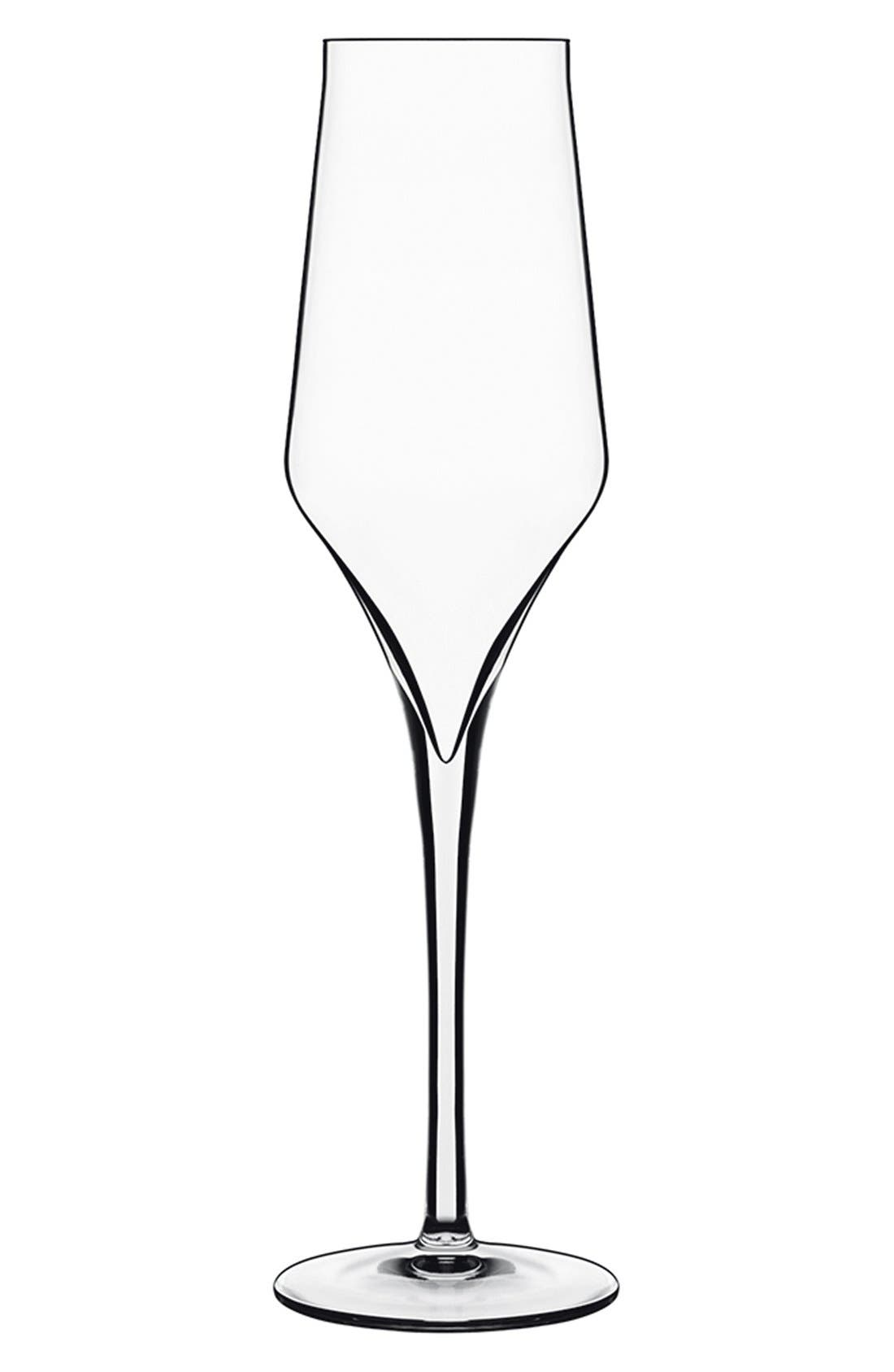 'Supremo' Champagne Flutes,                         Main,                         color, White