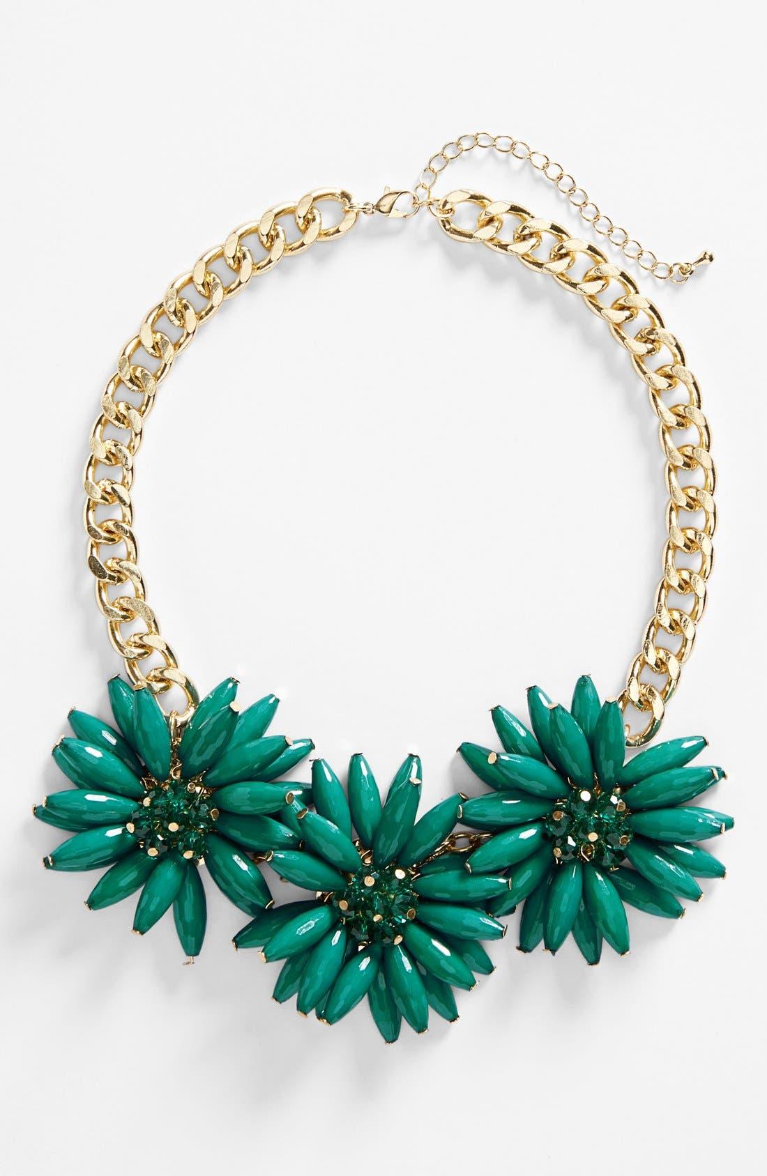 Alternate Image 2  - Topshop Spike Flower Necklace