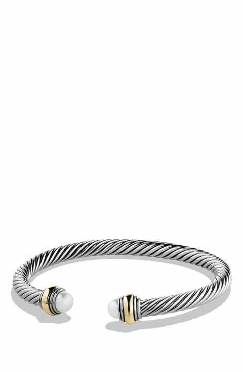 David Yurman Cable Clic Bracelet With Gold