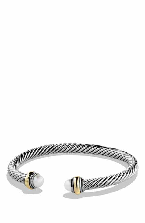 David Yurman Cable Clics Bracelet With Semiprecious Stones 14k Gold Accent 5mm