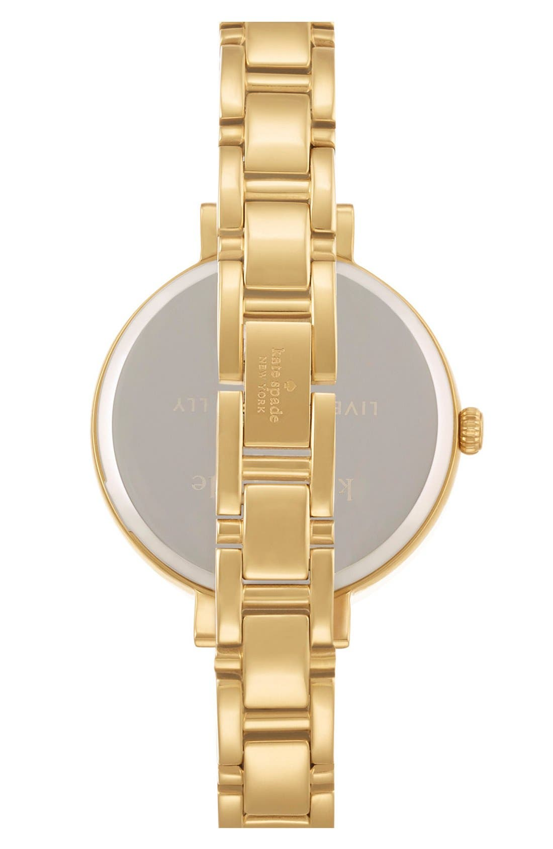 Alternate Image 2  - kate spade new york 'gramercy' crystal bezel bracelet watch, 34mm