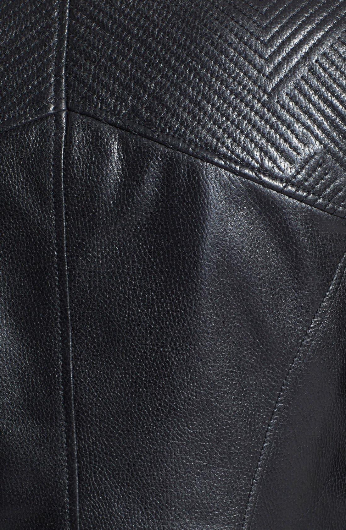 Alternate Image 3  - Trouvé Stitch Detail Leather Jacket