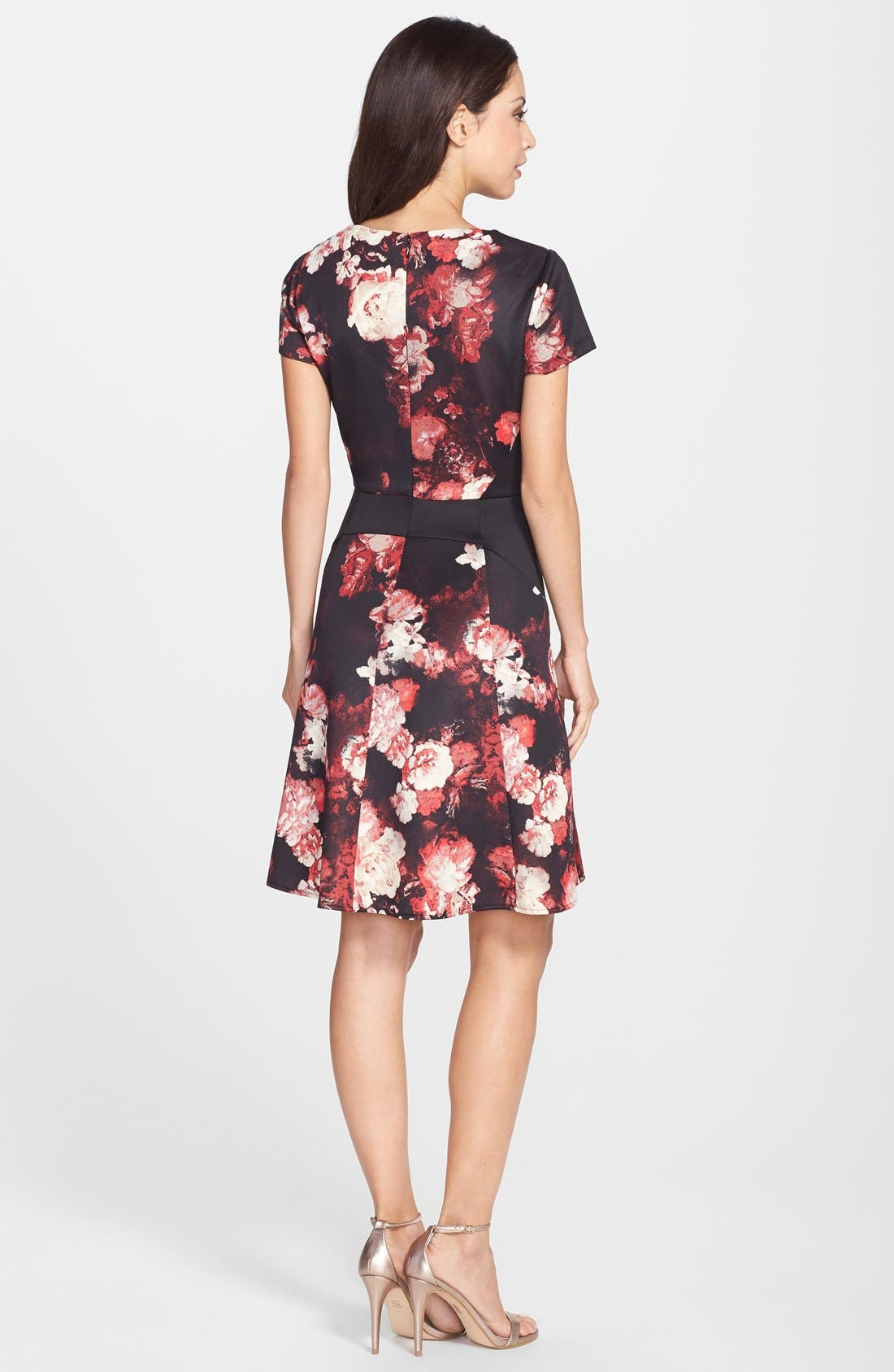 Alternate Image 2  - Adrianna Papell Print Scuba Fit & Flare Dress