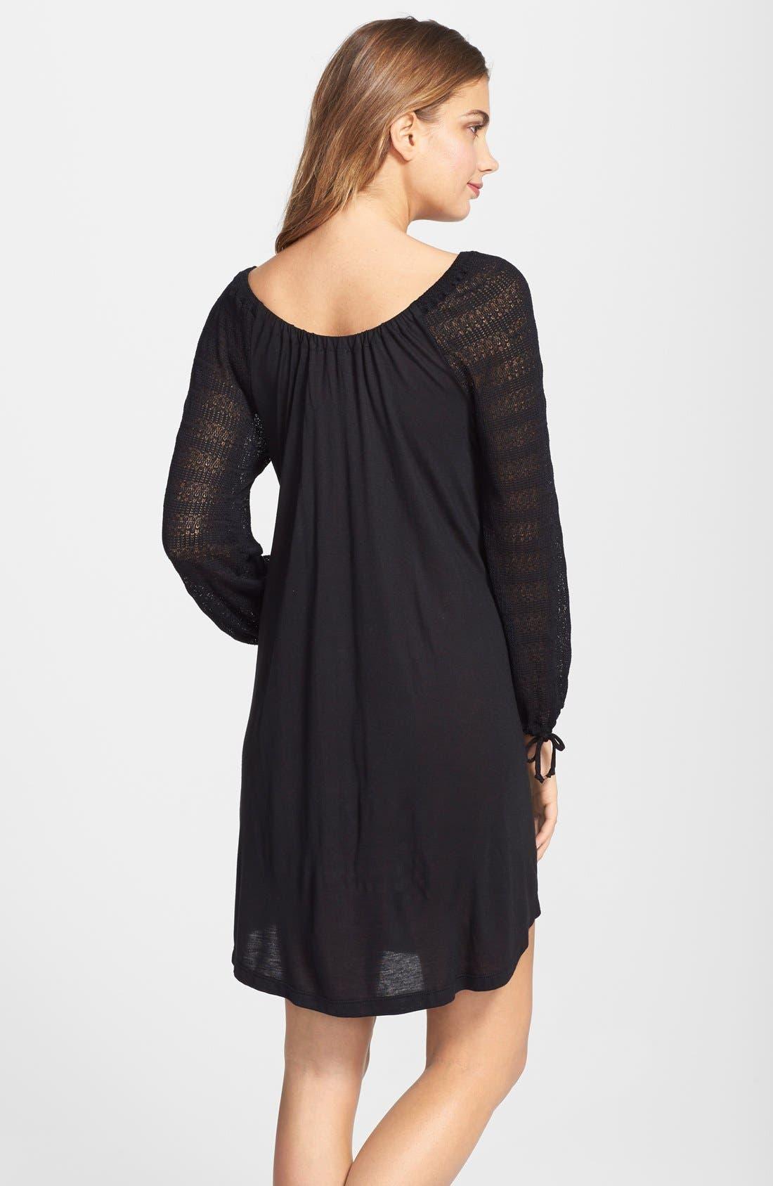 Alternate Image 2  - Eberjey 'Rosette' Tunic Sleep Shirt