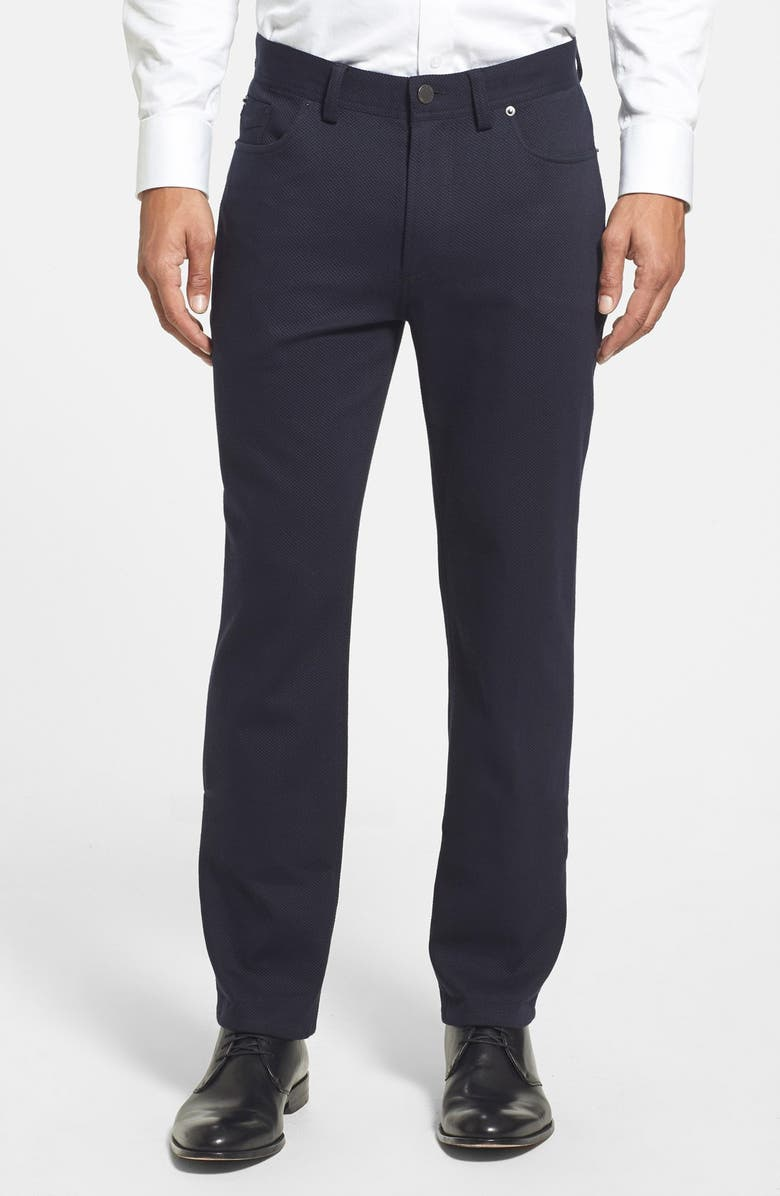 Straight Leg Five Pocket Stretch Pants