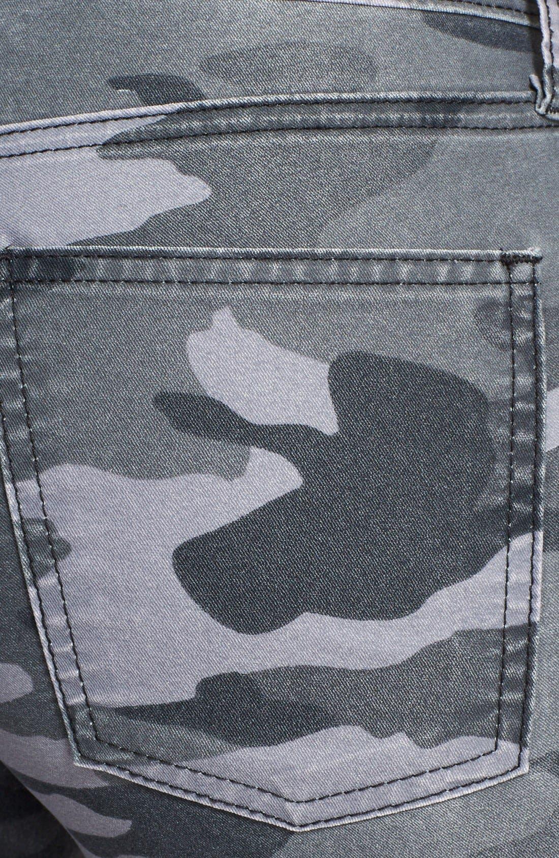 Alternate Image 3  - Current/Elliott 'The Ankle Skinny' Coated Camo Skinny Jeans