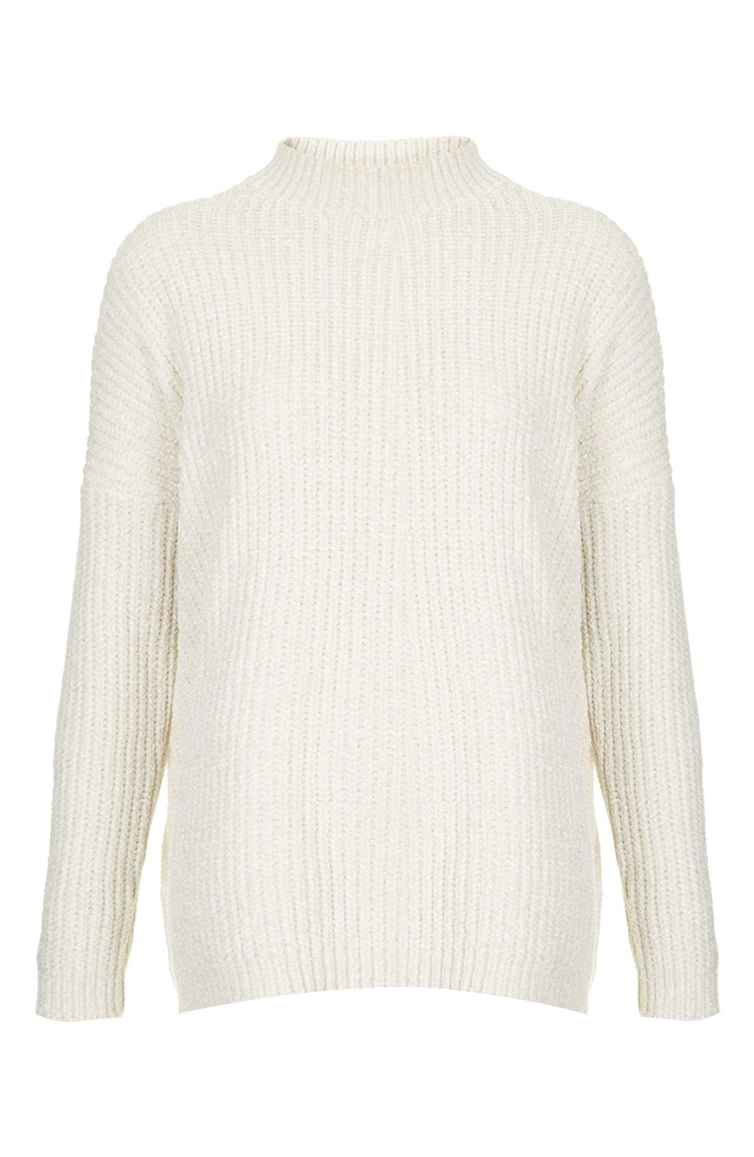 Alternate Image 3  - Topshop Slouchy Chenille Sweater