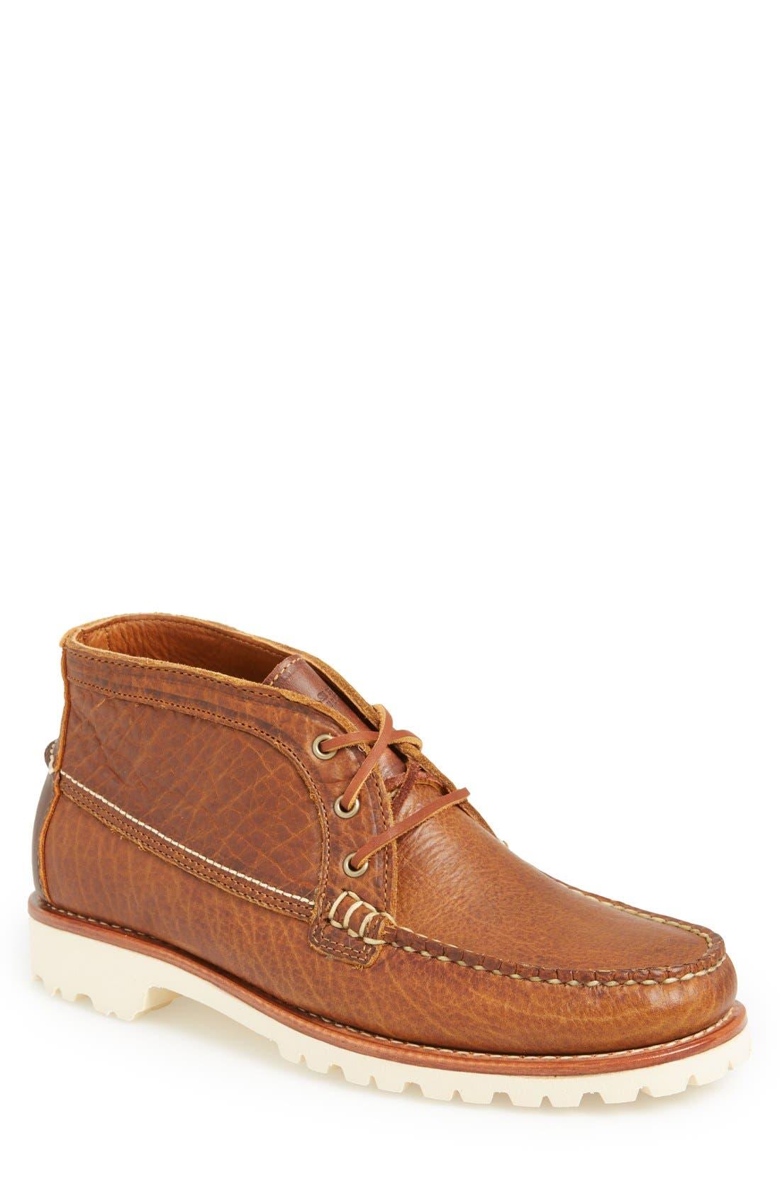 'Charlo' Moc Toe Boot,                         Main,                         color, Whiskey