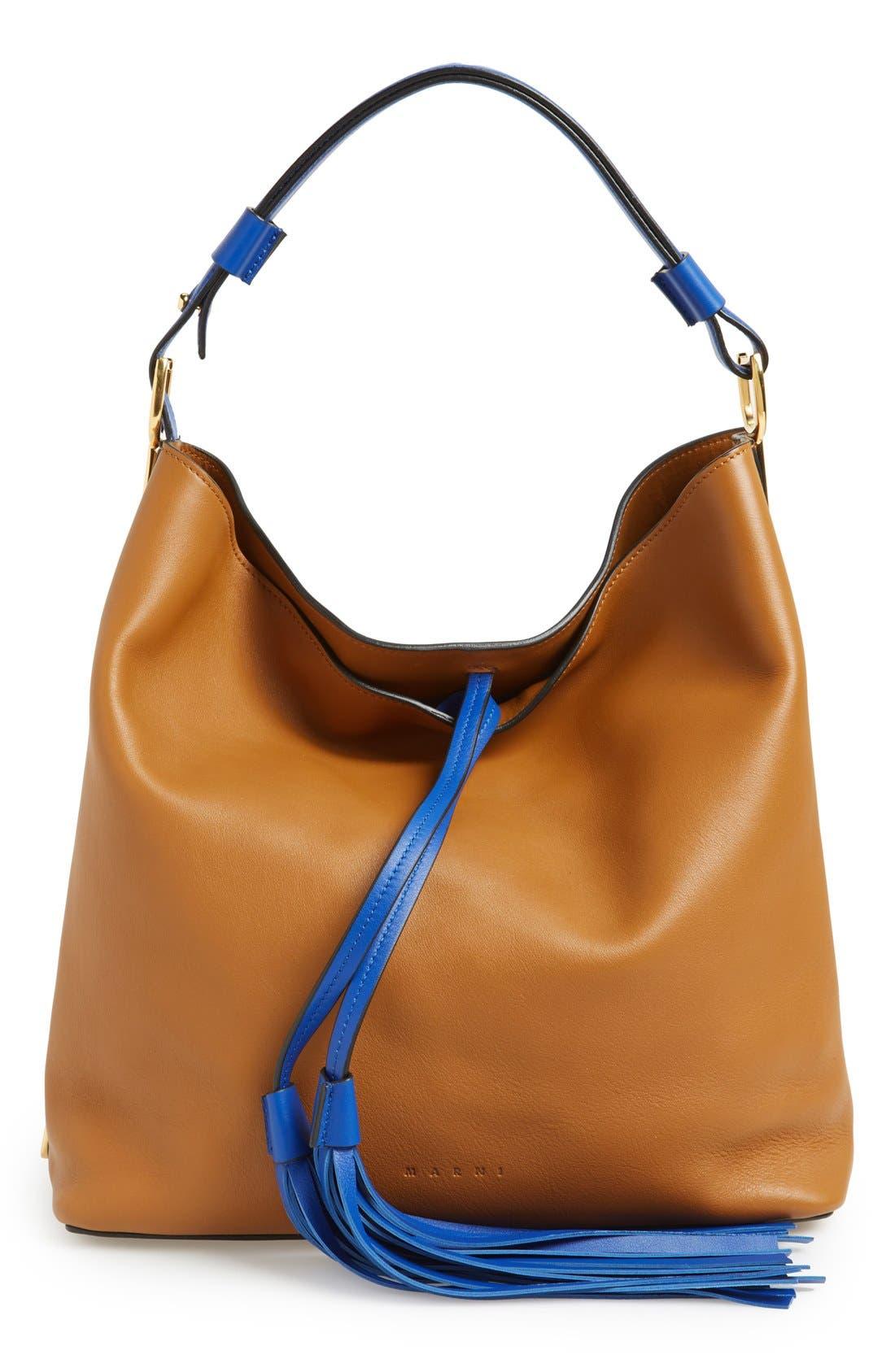 Alternate Image 1 Selected - Marni Tasseled Leather Shoulder Bag