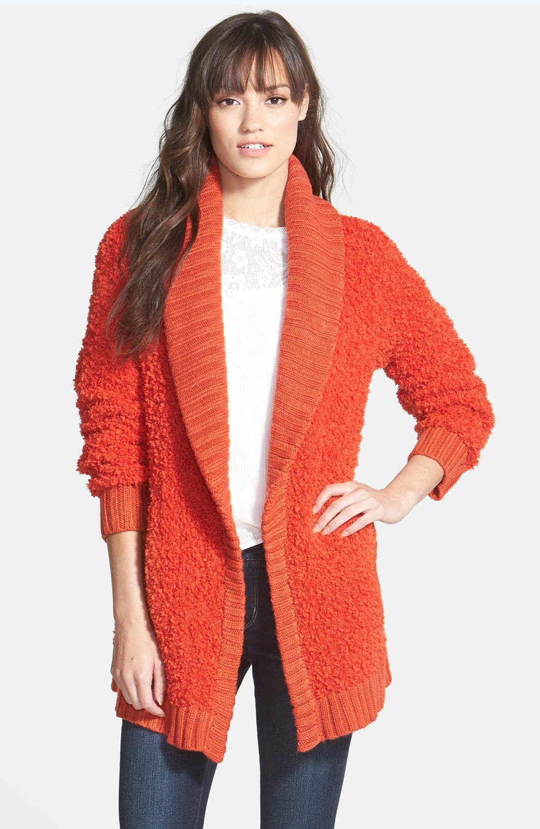 Alternate Image 1 Selected - Hinge 'Poodle' Shawl Collar Cardigan