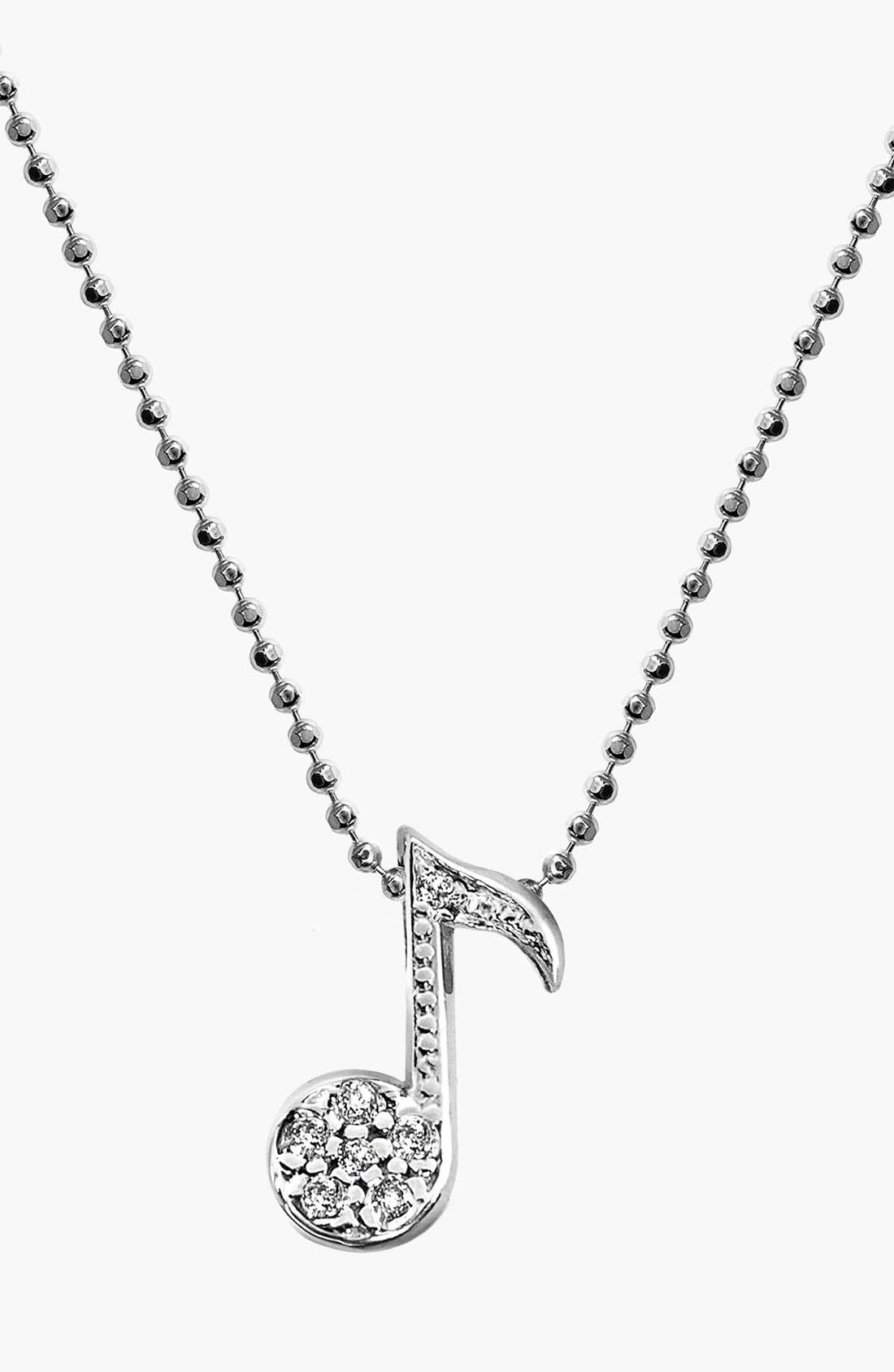 Main Image - Alex Woo 'Little Notes' Diamond Pendant Necklace