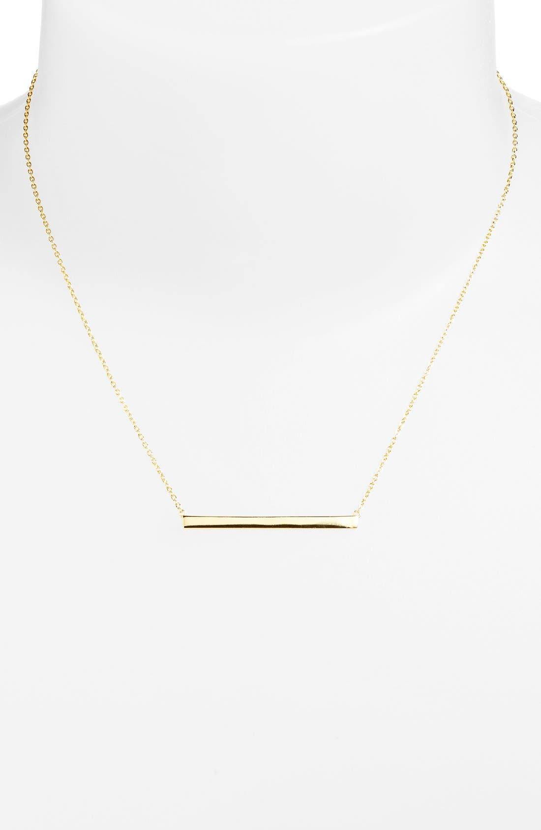 Bar Pendant Necklace,                             Alternate thumbnail 2, color,                             Gold