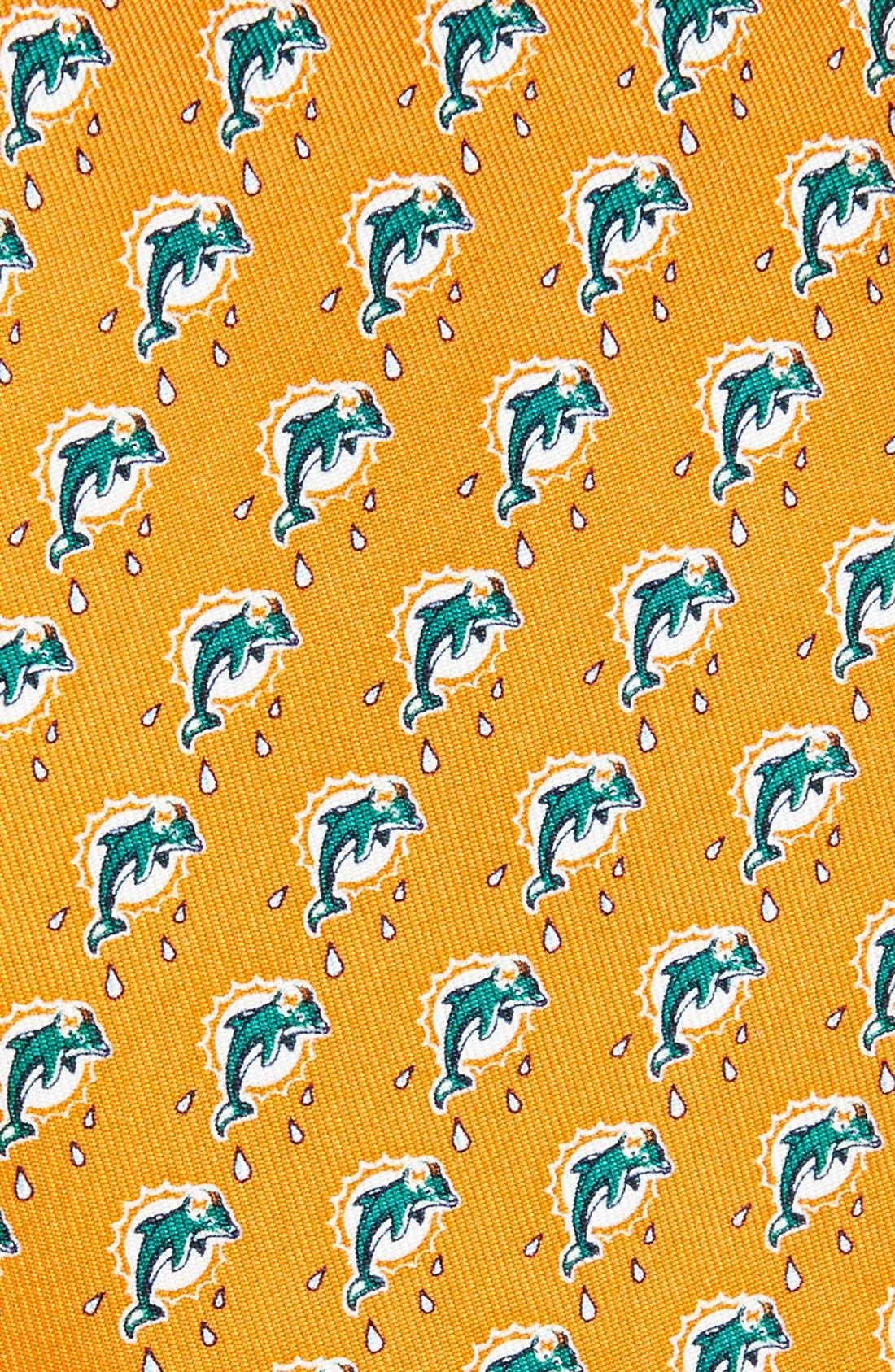 Miami Dolphins Print Tie,                             Alternate thumbnail 2, color,                             Orange