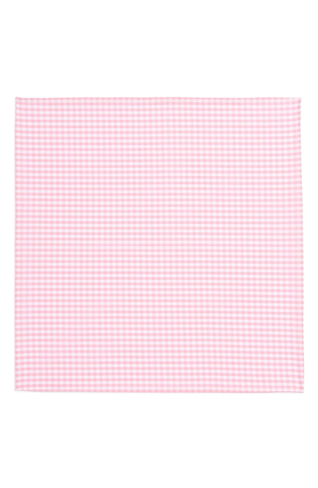 Alternate Image 2  - The Tie Bar Cotton Gingham Pocket Square (Online Only)