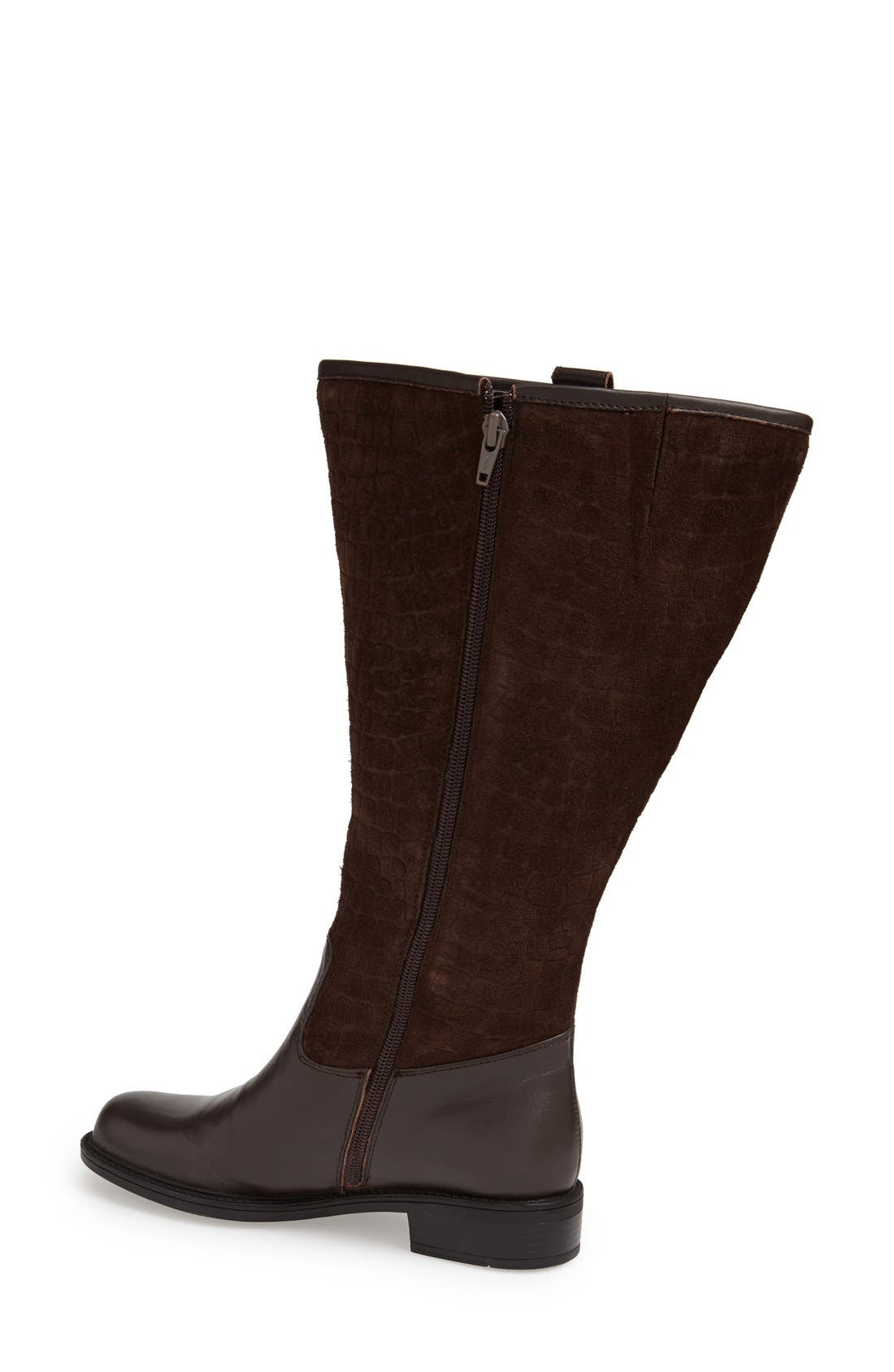 Alternate Image 2  - David Tate 'Best' Calfskin Leather & Suede Boot (Extra Wide Calf)