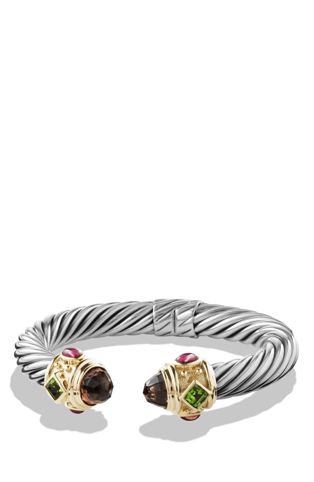 'Renaissance' Bracelet with Semiprecious Stones & Gold,                         Main,                         color, Smokey Quartz