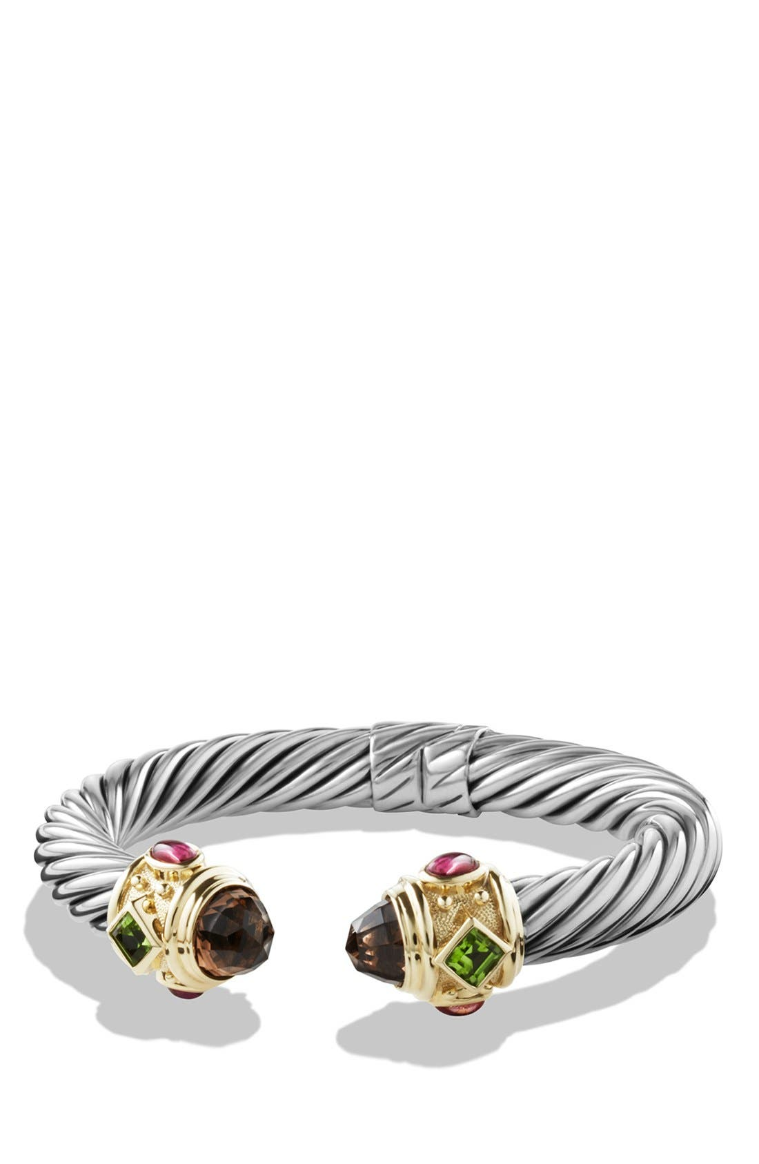 David Yurman 'Renaissance' Bracelet with Semiprecious Stones & Gold
