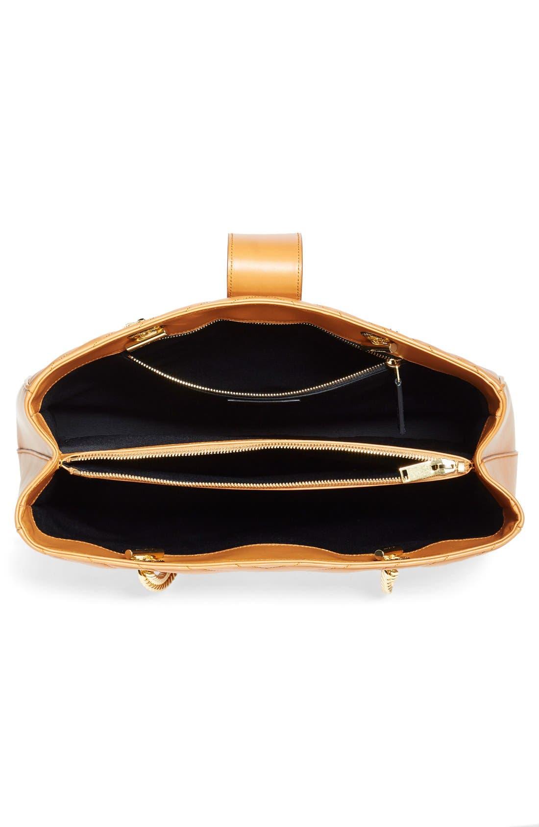 Alternate Image 3  - Saint Laurent 'Cassandre' Leather Shopper