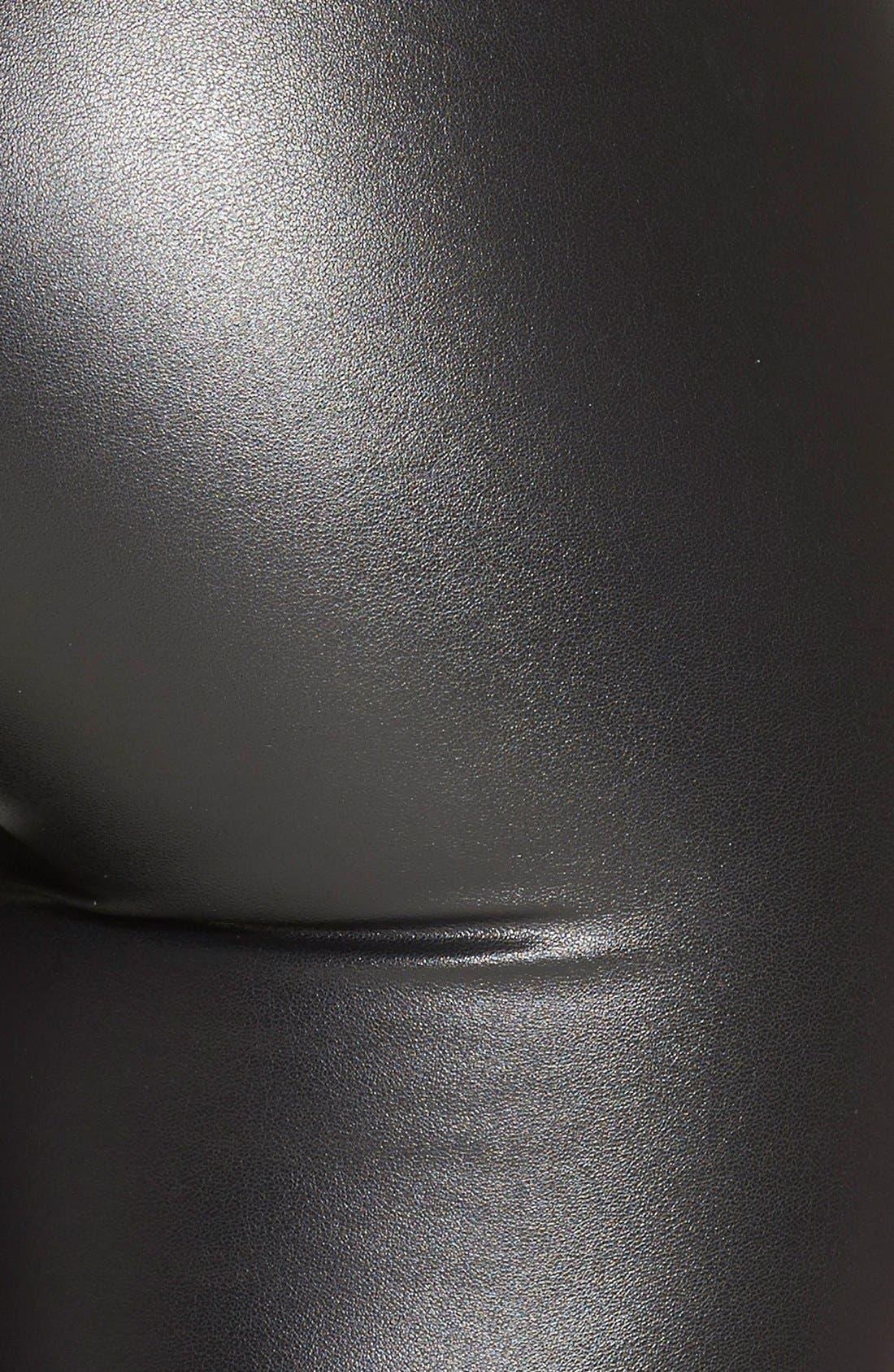 Alternate Image 3  - Topshop Textured Wet Look Leggings (Regular & Petite)
