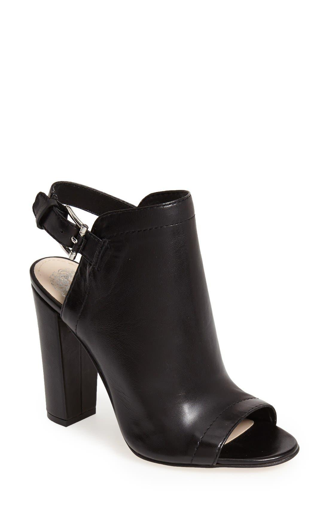 Alternate Image 1 Selected - Vince Camuto 'Vamelia' Open Toe Leather Bootie (Women)