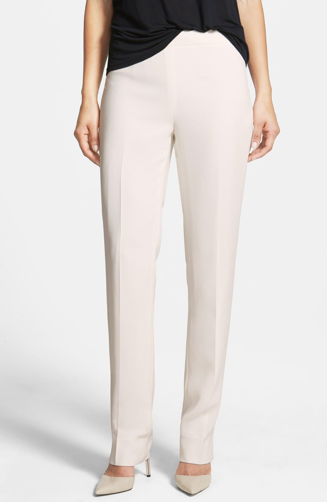 Lafayette 148 New York 'Bleecker - Finesse Crepe' Pants (Regular & Petite)