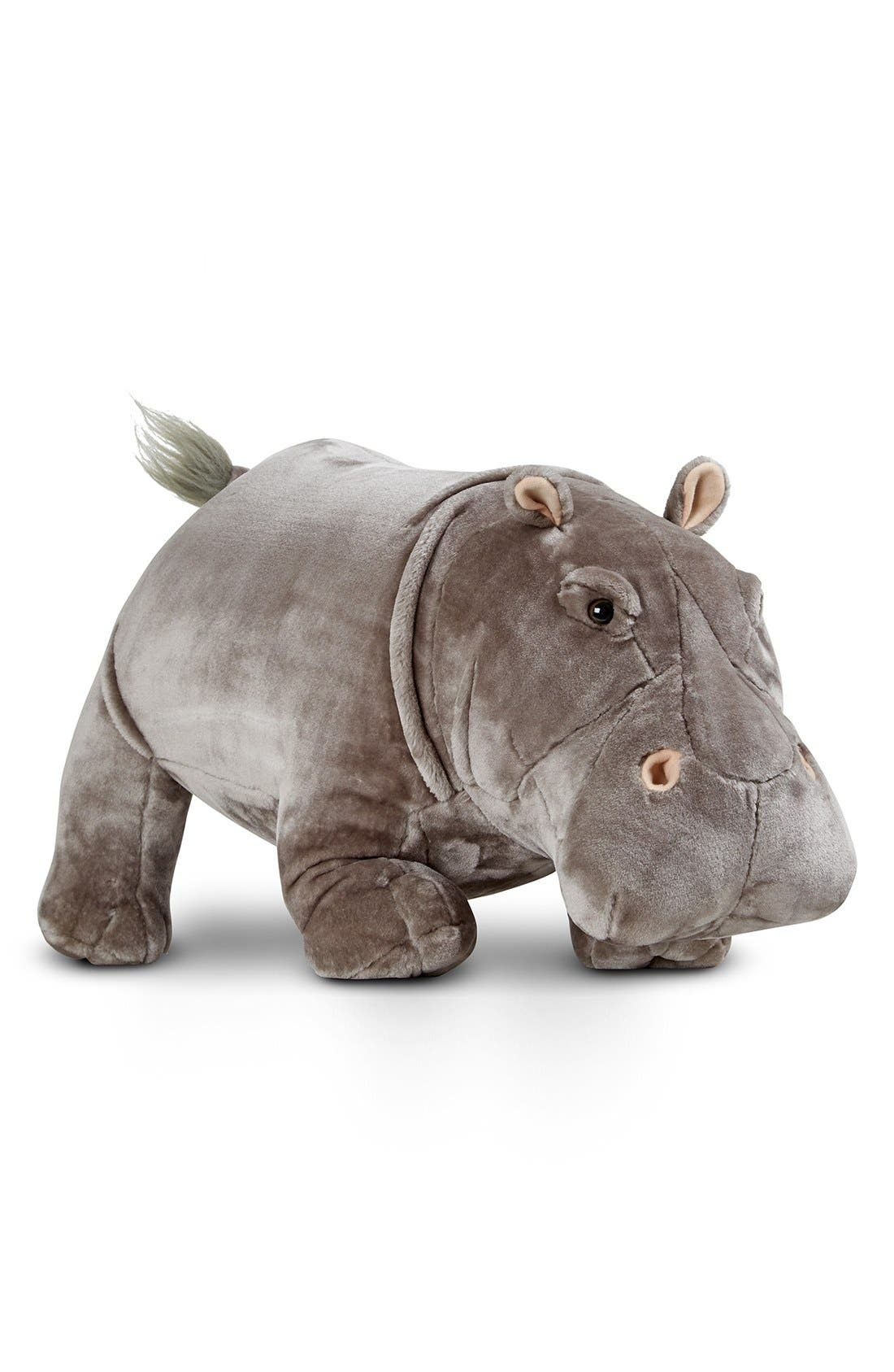 Plush Hippopotamus,                             Main thumbnail 1, color,                             Grey