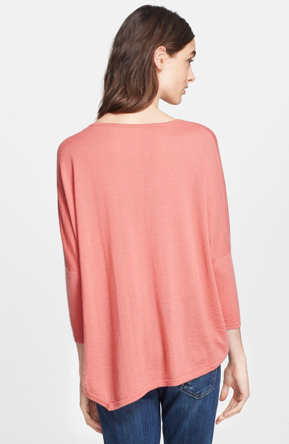 Alternate Image 2  - autumn cashmere Drop Shoulder Asymmetrical Cashmere Sweater