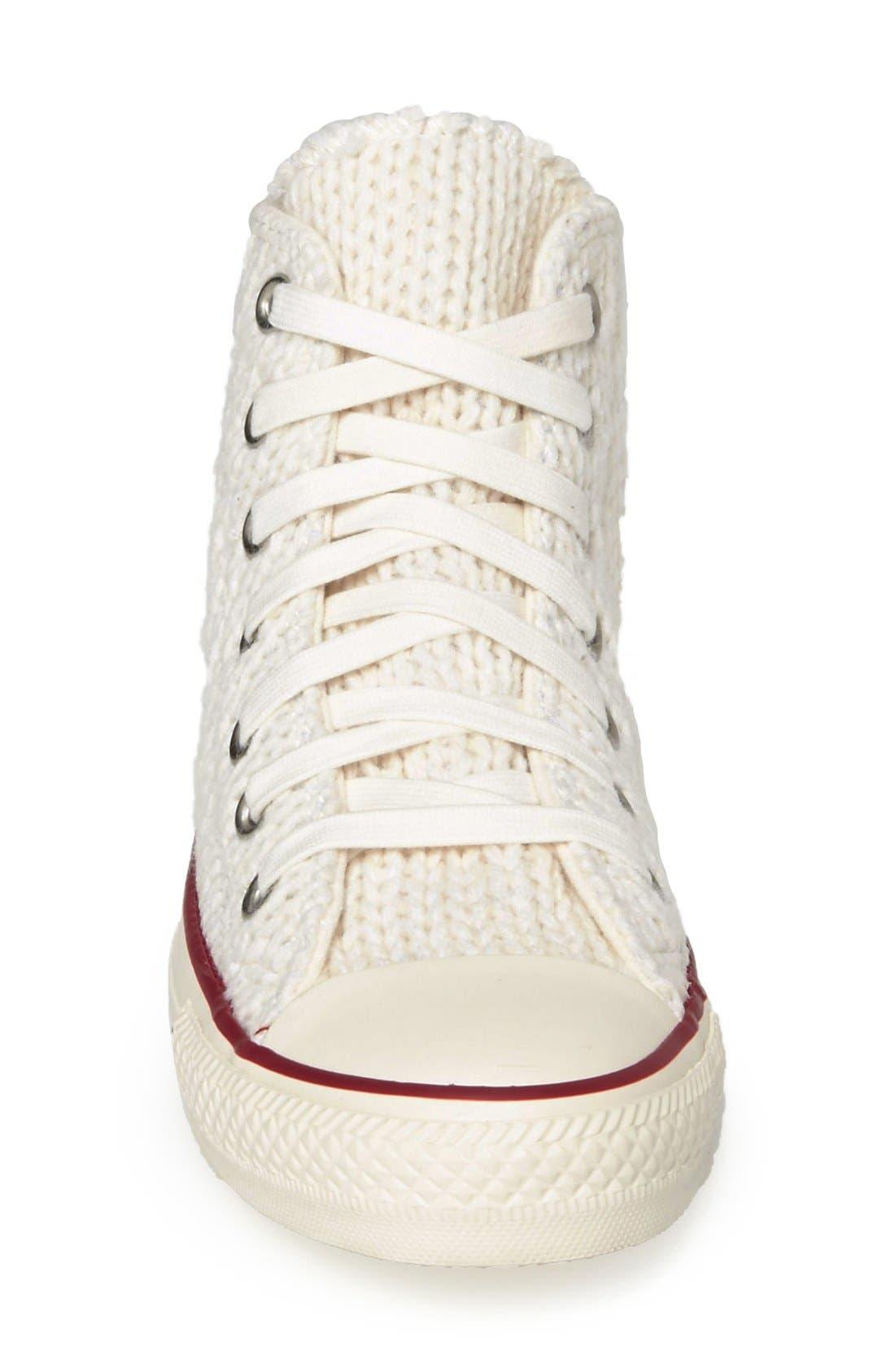 Alternate Image 3  - Converse Chuck Taylor® All Star® 'Winter Knit' High Top Sneaker (Women)