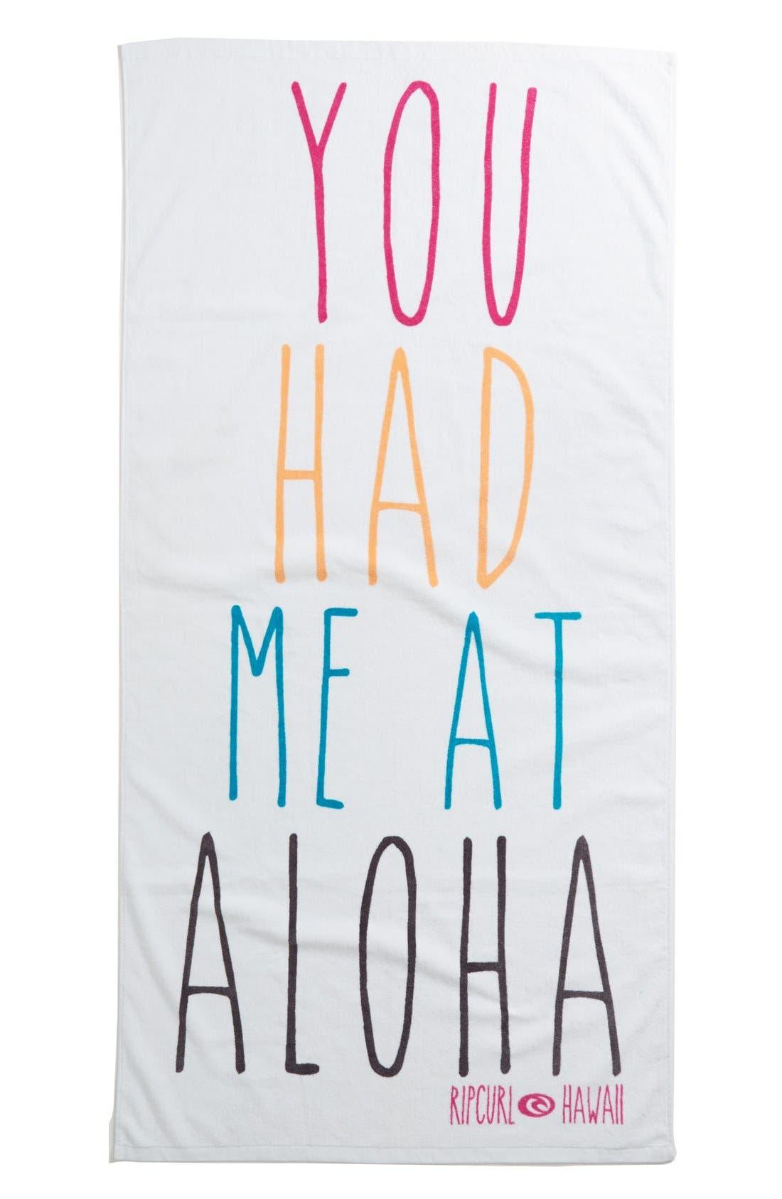 Alternate Image 2  - Rip Curl 'You Had Me At Aloha' Towel (Juniors)