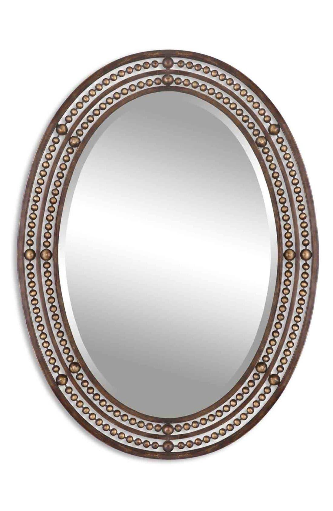 Uttermost U0027Matneyu0027 Distressed Bronze Oval Wall Mirror