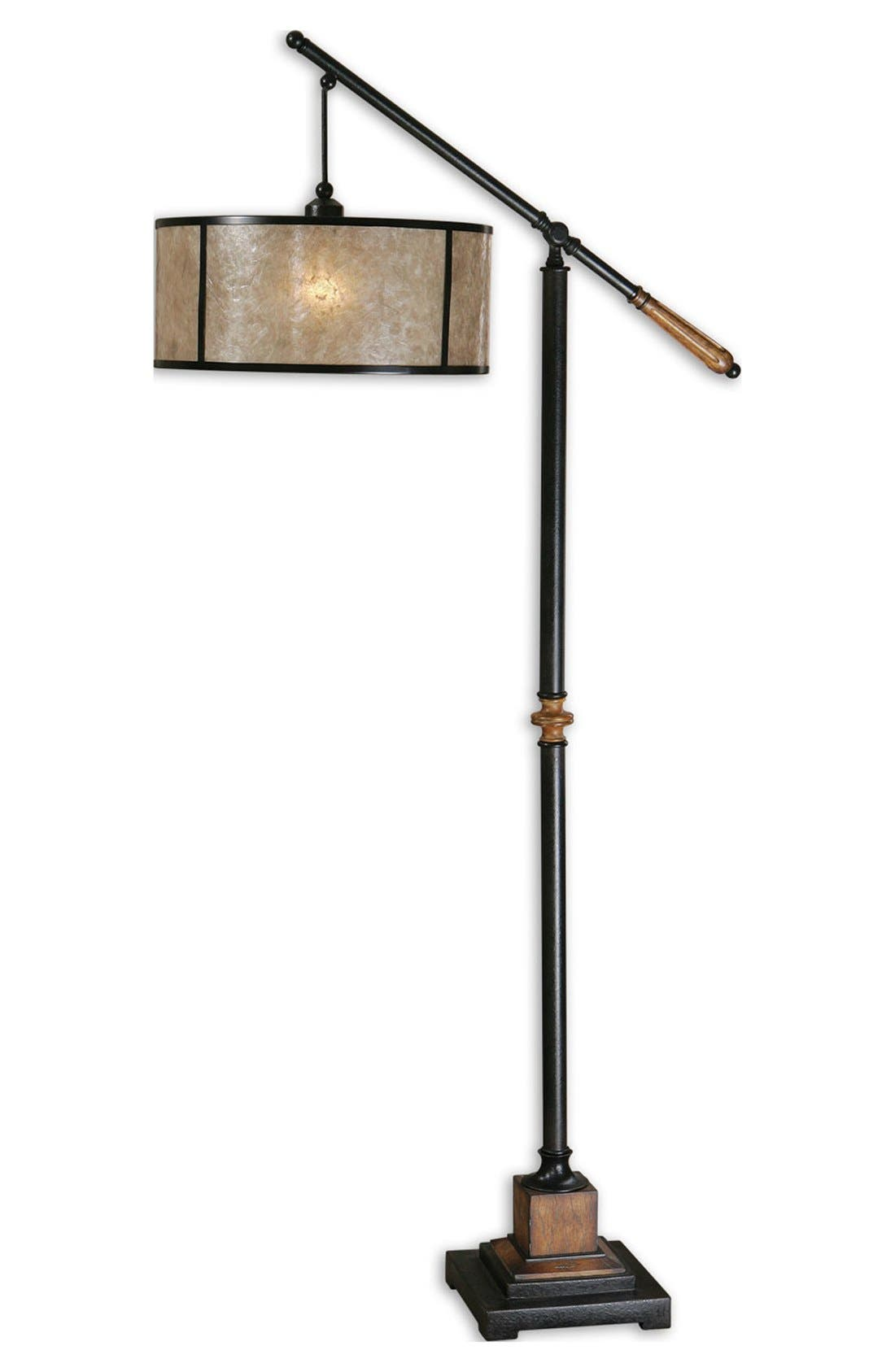 'Sitka' Lantern Floor Lamp,                             Main thumbnail 1, color,                             Black