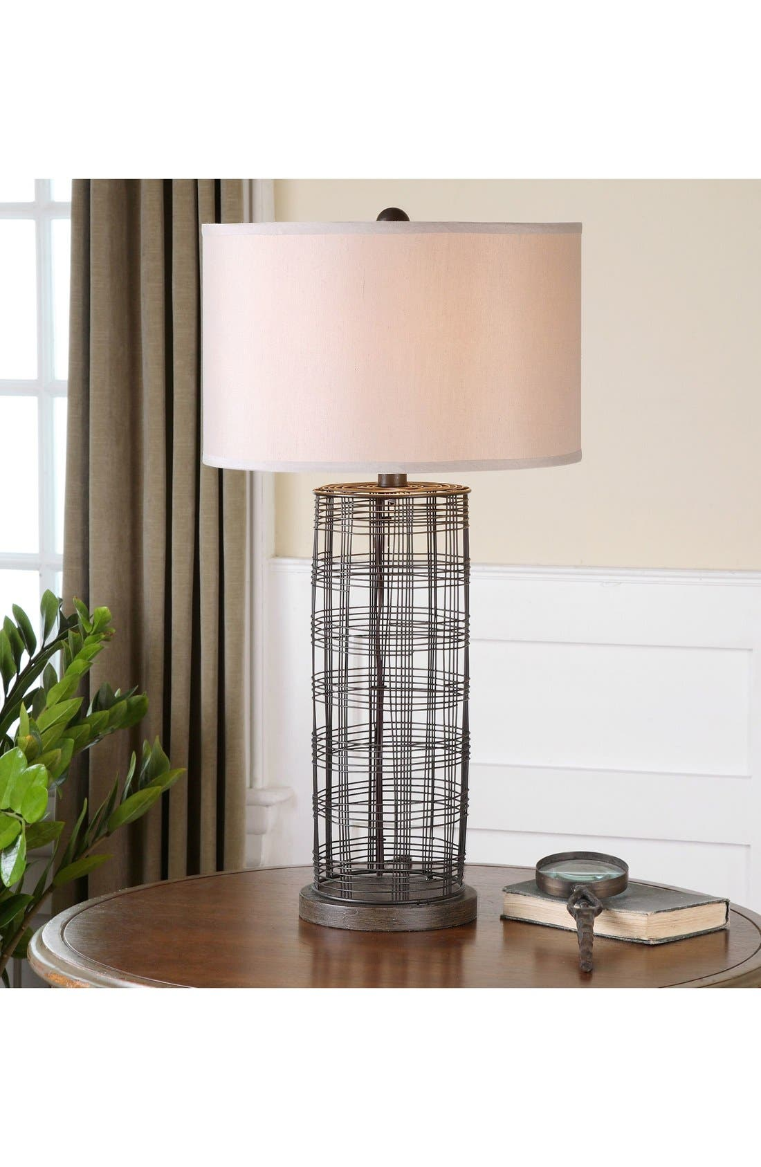 'Engel' Wire Table Lamp,                             Alternate thumbnail 2, color,                             Grey