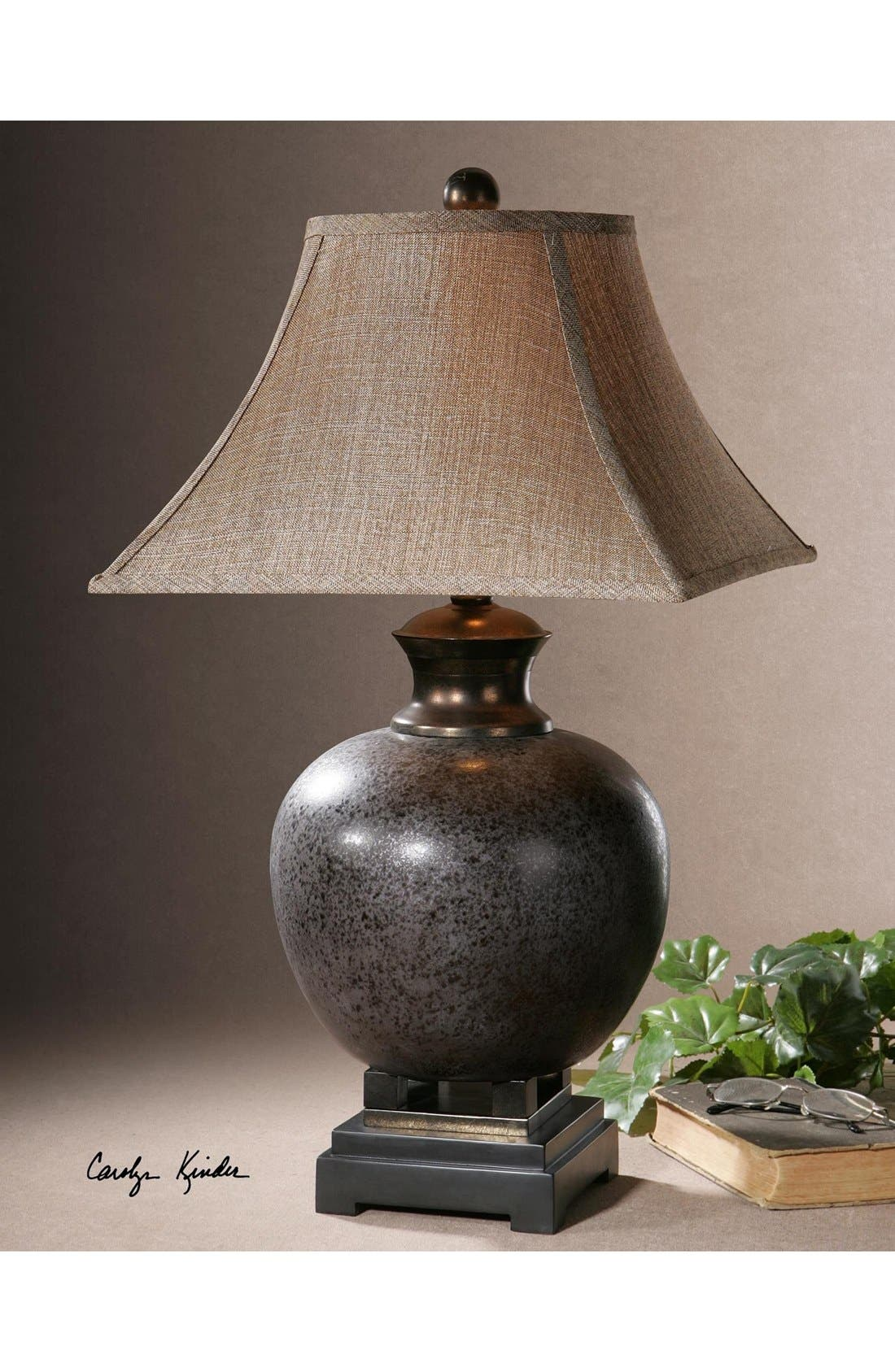 'Villaga' Ceramic Table Lamp,                             Alternate thumbnail 2, color,                             Grey
