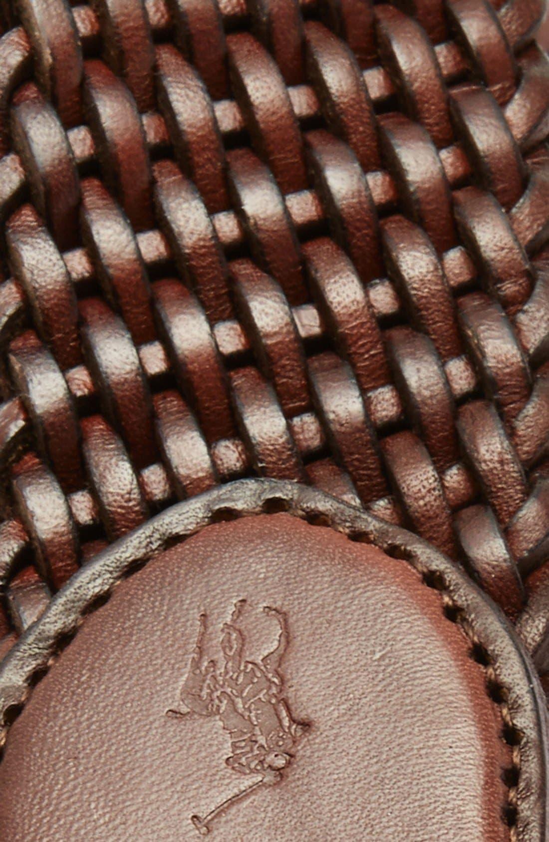 Alternate Image 2  - Polo Ralph Lauren Braided Leather Belt