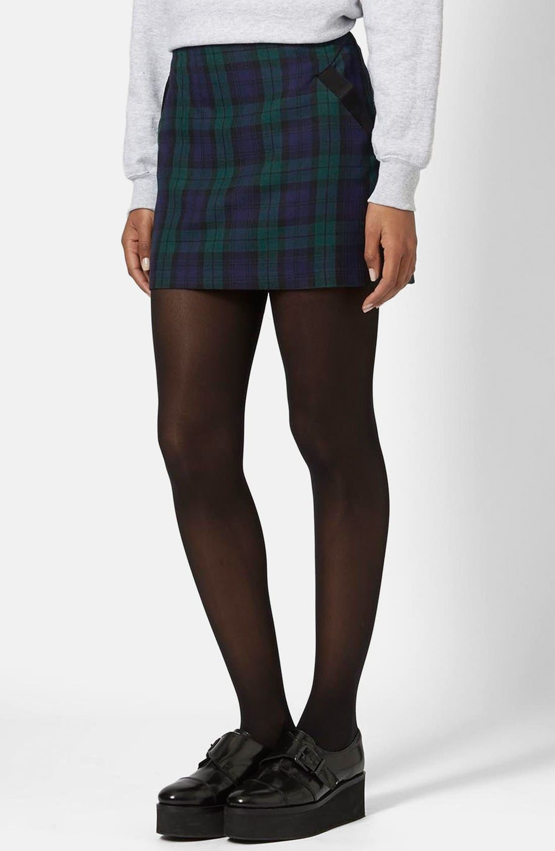Alternate Image 1 Selected - Topshop Plaid Miniskirt