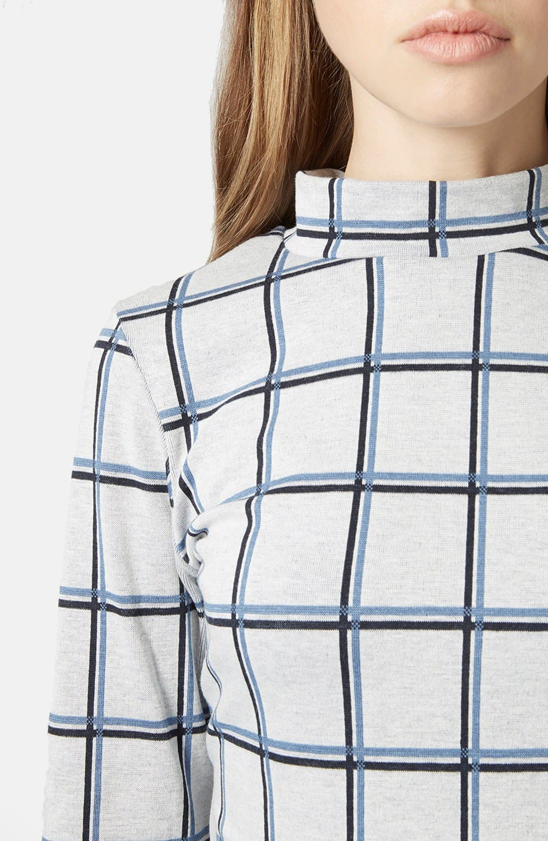Alternate Image 3  - Topshop Windowpane Crop Top