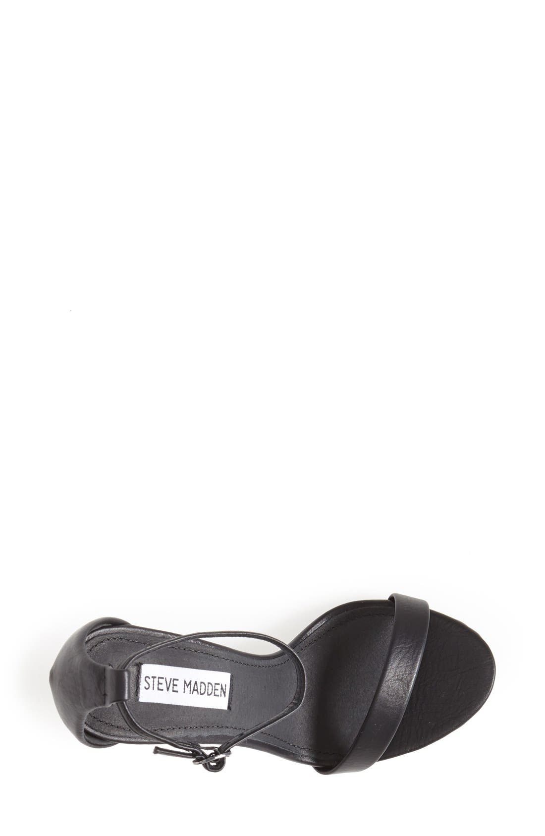 Stecy Sandal,                             Alternate thumbnail 3, color,                             Black Smooth