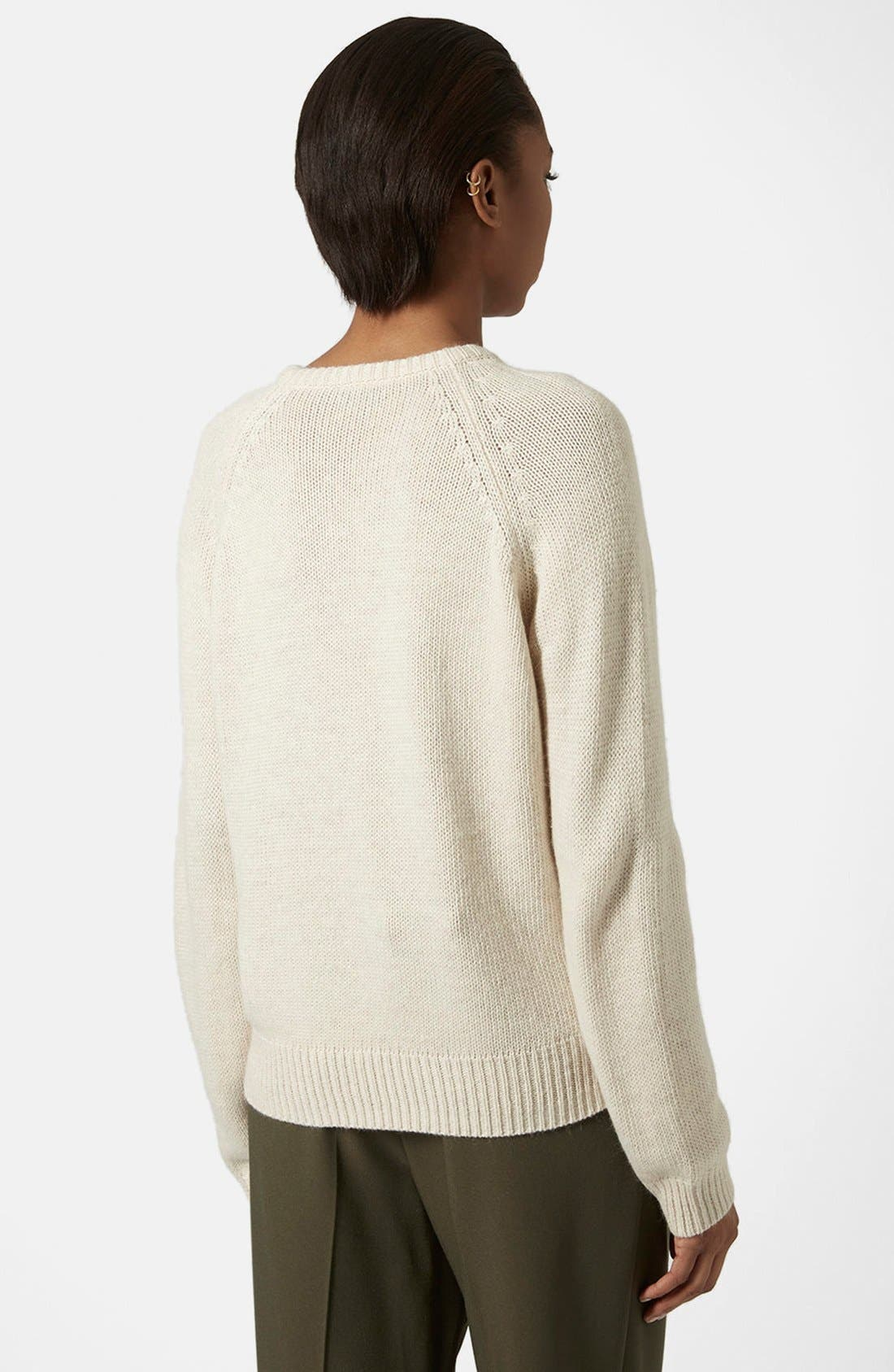 Alternate Image 2  - Topshop Faux Fur Front Sweater