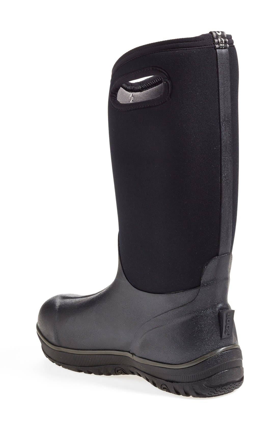 'Classic' Ultra High Waterproof Snow Boot with Cutout Handles,                             Alternate thumbnail 2, color,                             Black