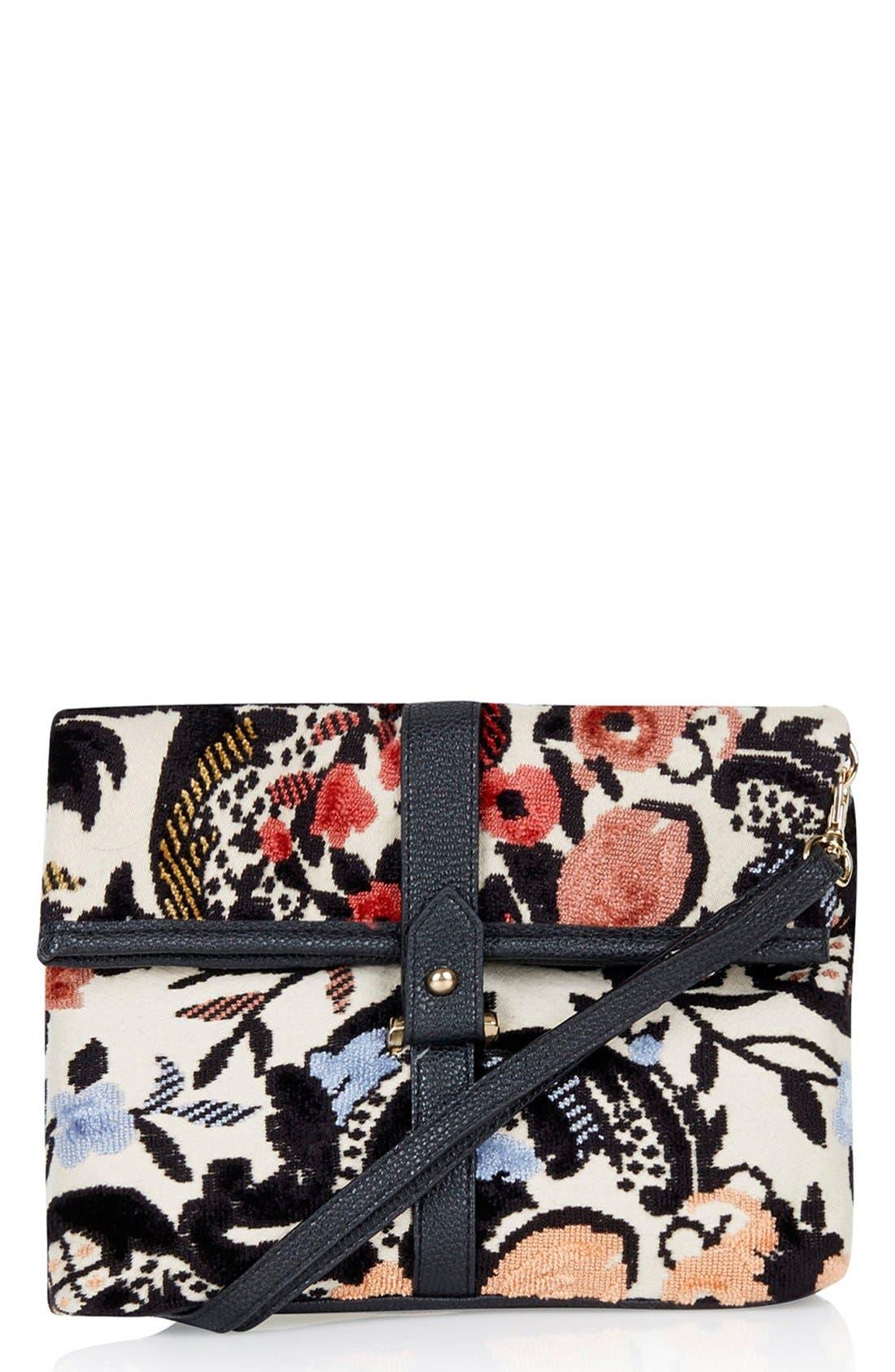 Main Image - Topshop Tapestry Crossbody Bag
