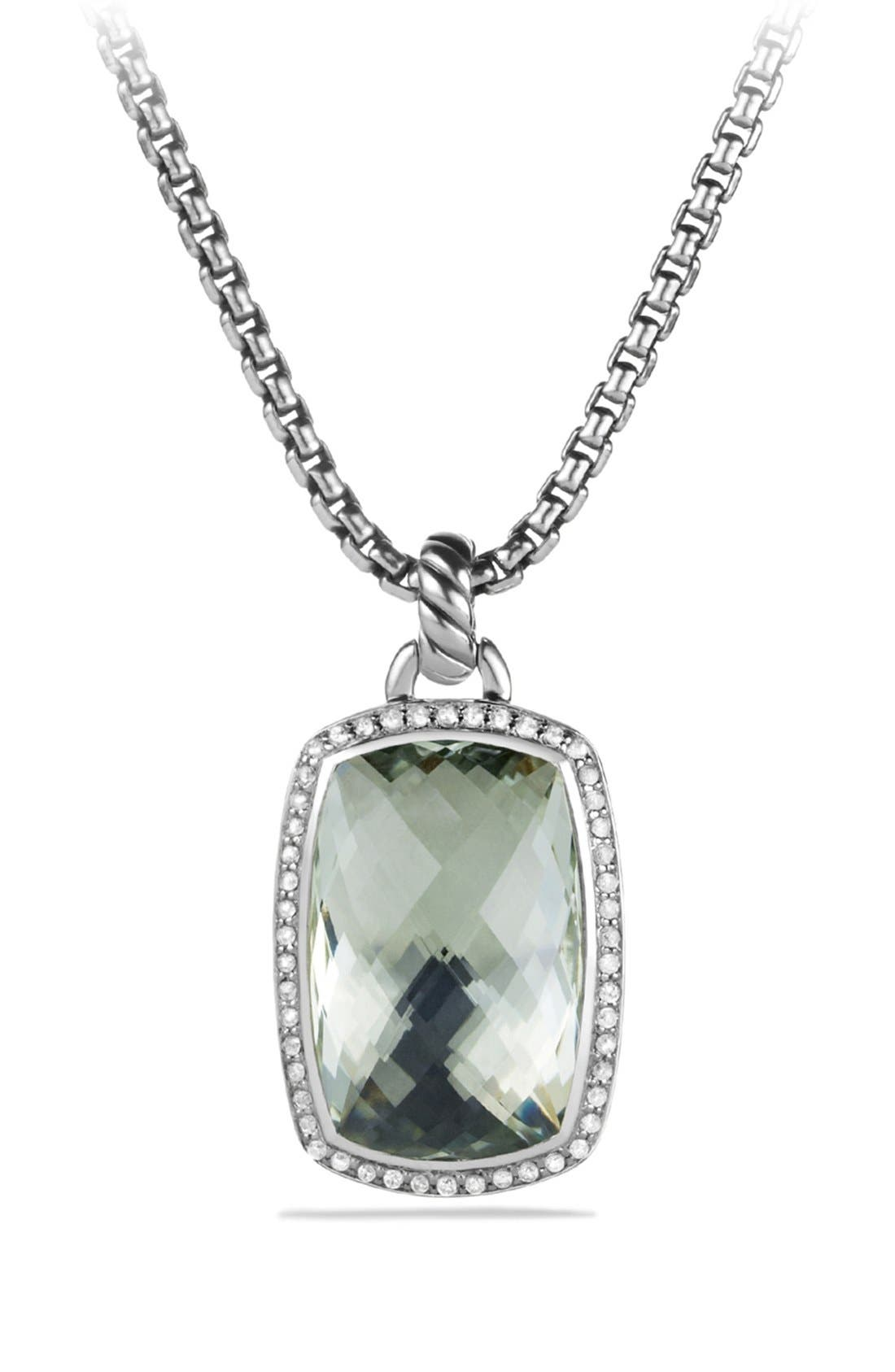 Alternate Image 1 Selected - David Yurman 'Albion' Pendant with Semiprecious Stone and Diamonds