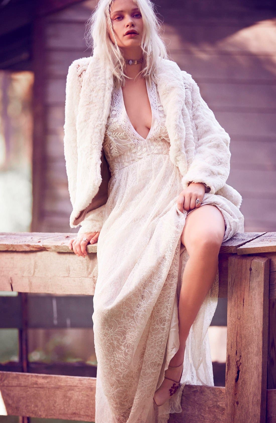 Alternate Image 2  - Free People Eclair Embroidered Maxi Dress