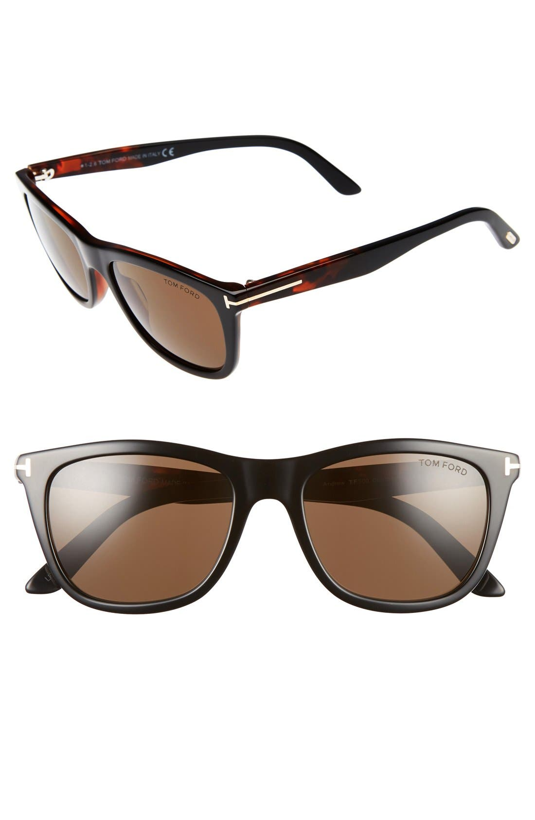 Main Image - Tom Ford Andrew 54mm Sunglasses