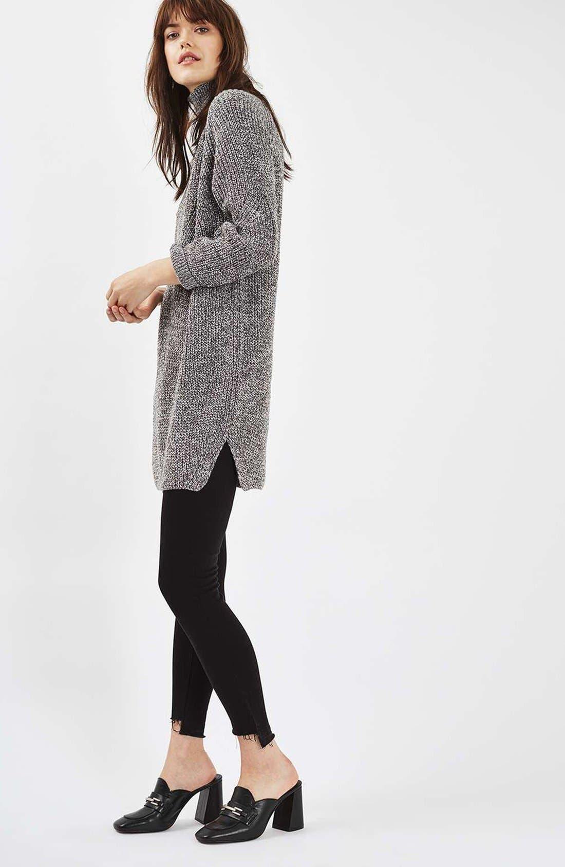 Alternate Image 2  - Topshop Grunge Funnel Neck Sweater Dress