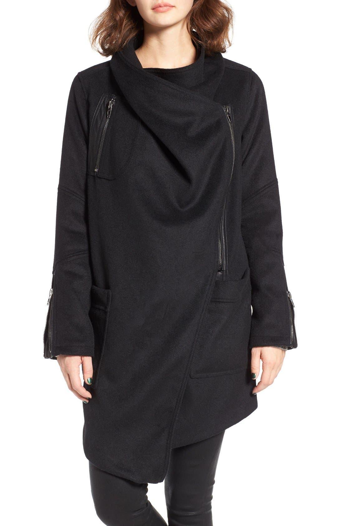 Alternate Image 4  - BLANKNYC Blackout Wool Blend Drape Jacket