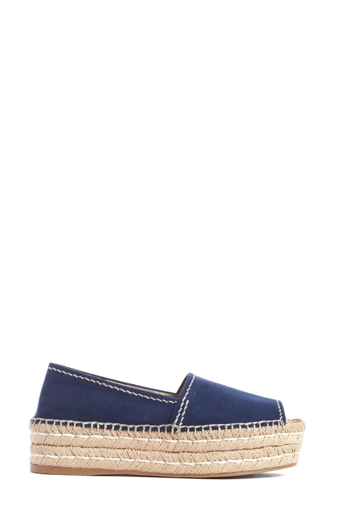 Alternate Image 4  - Prada Peep Toe Leather Espadrille (Women)