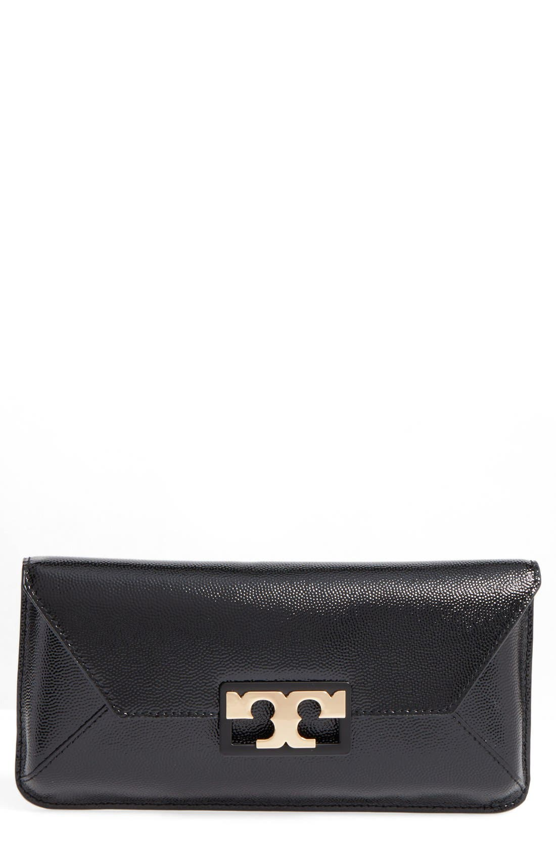 Main Image - Tory Burch Gigi Caviar Leather Clutch