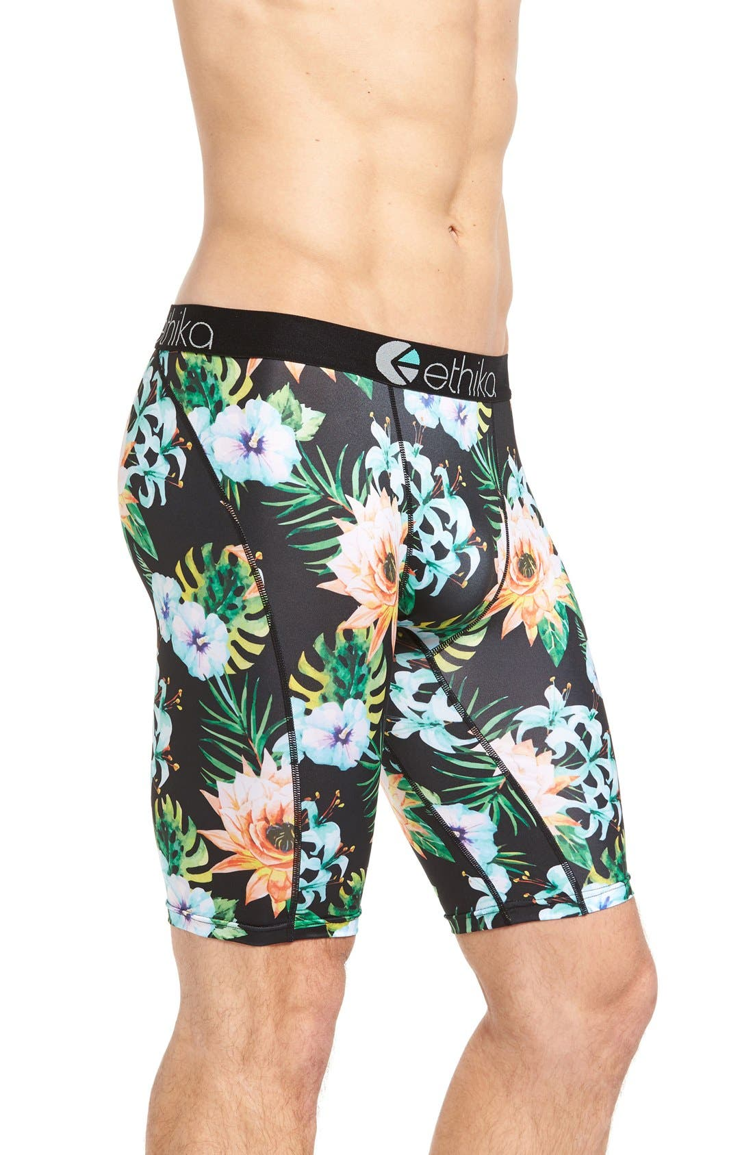 Alternate Image 3  - Ethika Garden Stretch Cotton Boxer Briefs