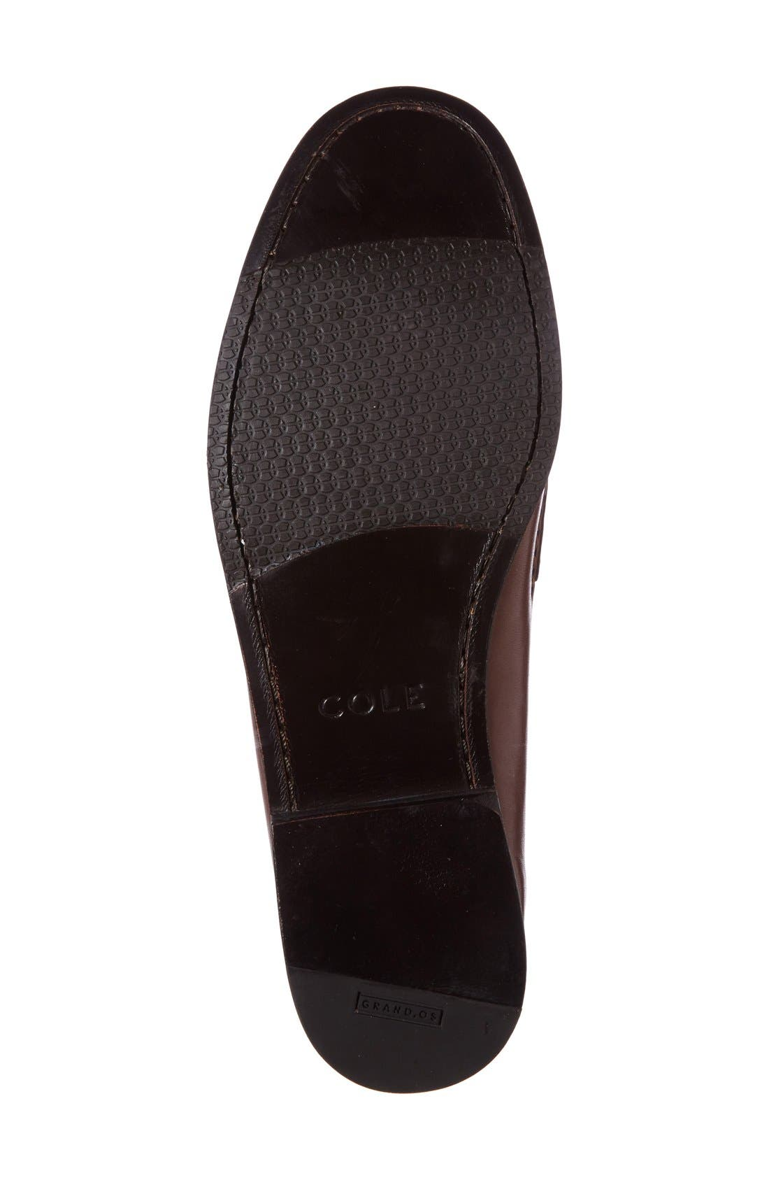 'Pinch Grand' Tassel Loafer,                             Alternate thumbnail 4, color,                             Papaya Leather